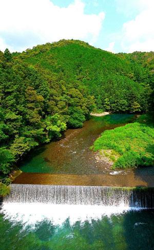 日本一の清流、四万十川。