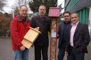 Pressetermin Stadt Langenfeld 07.12.2011 - v. li: Holger Pieren (Haus Bürgel), Thomas Günther (WFBME), Jens Mischel (Stadt Langenfeld), Frank Schneider (BM Stadt Langenfeld)