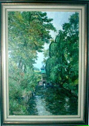 Dies Ölbild aus dem Besitz von Enno Janßen gibt die Atmosphäre wieder, von der die Strohauser schwärmen.
