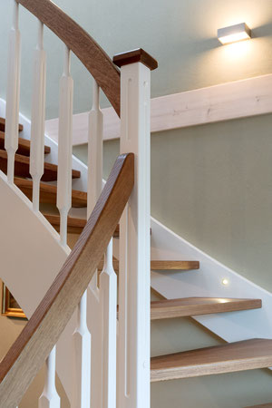Staircases in luxurious eco home from Stommel Haus