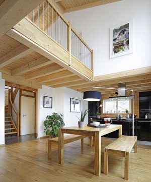 Interiors in luxurious German off-site manufactured eco home