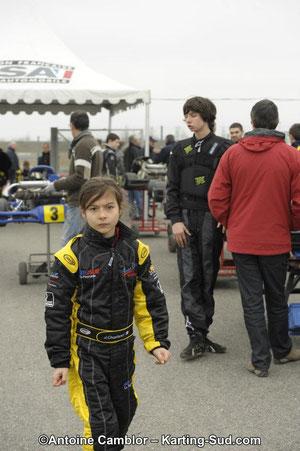pilote de karting minikart