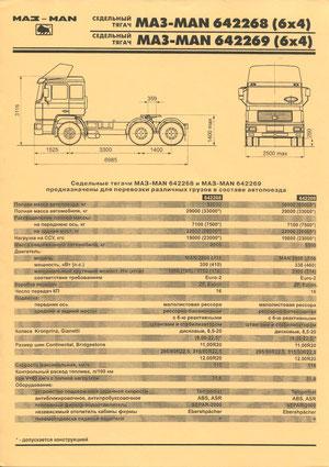 Информационная листовка «МАЗ-MAN 64226»