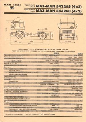 Информационная листовка «МАЗ-MAN 54326»