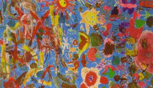 """""""Als die Farben laufen lernten"""" - Acryl & Tempera auf Papier"""