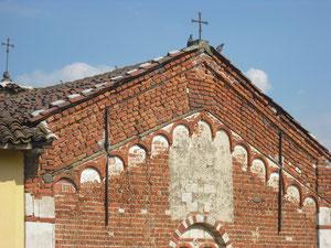 Particolare della  facciata ovest