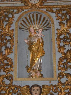 Statua dell'Assunta senza  manto e corona