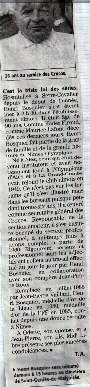 un serviteur du Nîmes Olympique