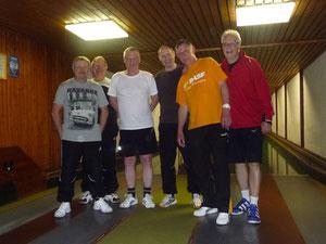v. l. Edwin Zakostelny, Norbert Winkenbach, Rüdiger Ringelspacher, Gerd Böss, Heinz Hollstein und Teamleader Gerhard Graf
