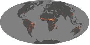 2007 Sep. (9月) 火災の図 火災は傾向的に、乾季の8月から11月までが多い。