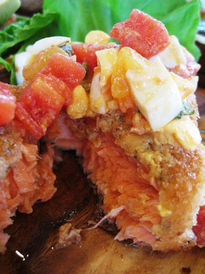 生鮭のトマトソース。。トロトロでもさっぱり美味!