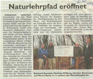 Generalanzeiger Schönebeck vom 1. Dezember 2010