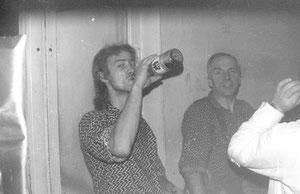 Frühstückspause in der Yachtwerft in den Achtzigern