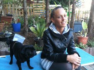 unsere Tochter Lisa-Maria (geb.1984) und Hund Lennox