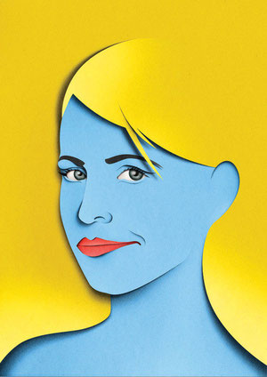 Portraits paper art-30