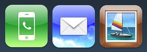 Phone, Mail, Photos iOS Icons