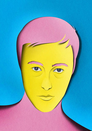 Portraits paper art-32