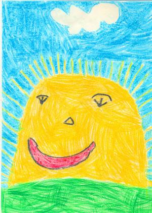 Солнце в детском рисунке