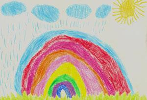 Яркая радуга