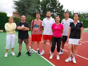 de g. à d. : Edith, Emmanuel, Sébastien, Stéphane, Sandrine, Jean-Christophe, Myriam
