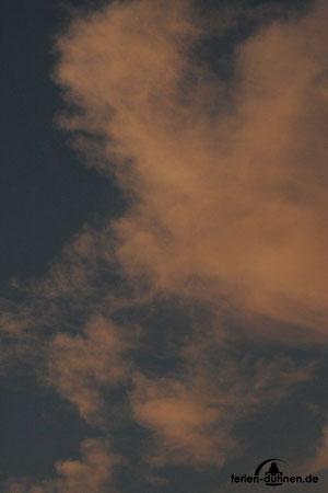 Abendlicher Wolkenhimmel in Duhnen