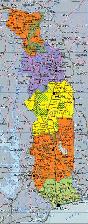 L'école est à Lomé, capitale du Togo, au sud du pays