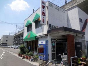 喫茶店(建物北側)