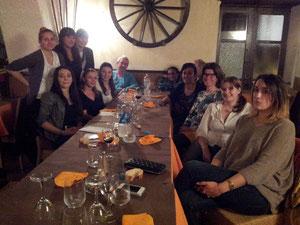 L'équipe organisatrice lors d'une réunion de travail à l'auberge U Fuconu à Figari