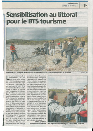 Corse-Matin 18/02/2012