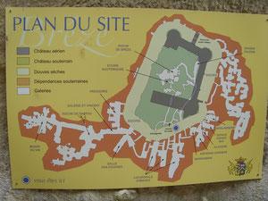 Plan von Schloss Brezé
