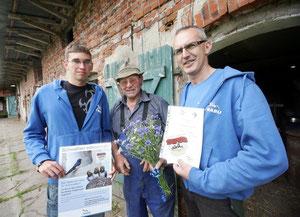 Praktikant Rene Sternsdorf, Wolfgang Voigt und René Riep (v.l.)