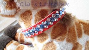Hundehalsband rot strass für kleine Hunderassen