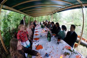 Hochzeitsessen im Geschichtszelt 2009