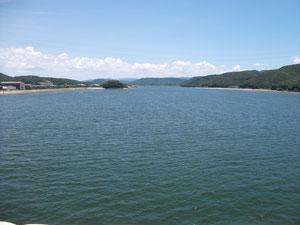 河口大橋から川内川上流を眺めたところ