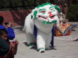 雪獅子の舞
