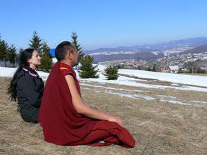 ゾクチェンsky gazingの瞑想中