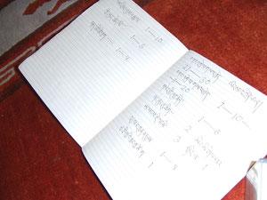 チベット文字と英語文字のリスト