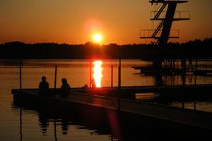 Sonnenuntergang in Südschweden