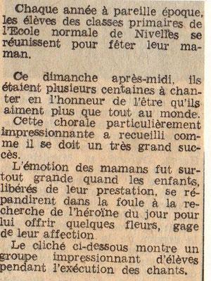 """Article paru dans """"Le Peuple"""" du 10/05/1967"""
