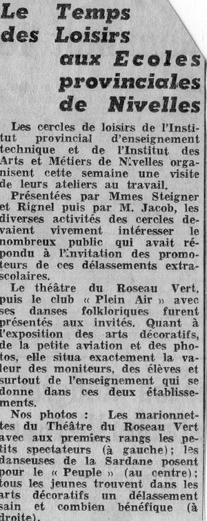 """Article paru dans """"Le Peuple"""" le 26/03/1968"""