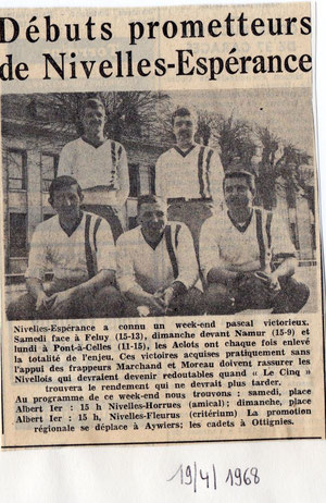 """Article paru dans le journal """"Le Peuple"""" du 18/04/1968"""