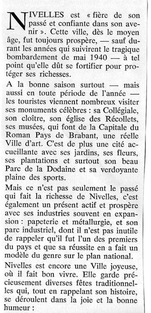 Une partie de l'article de Monsieur Marcel BRABANT, datant de 1974