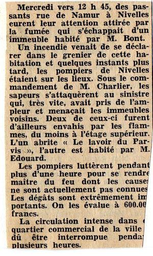 """Article paru dans le journal """"Le Peuple"""" du 5/09/1968"""