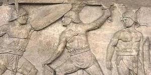 Rilievo con Provocatores repubblicani, Roma, I sec. A.C.