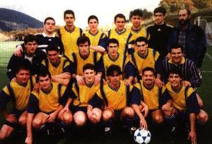 Plantilla del Salleko que logró el ascenso a Tercera en la campaña 2000/01.