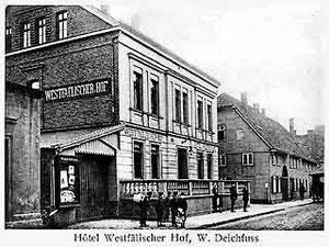 "Hotel Westfälischer Hof, Kökerstraße, heute ""Fasan"""