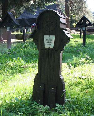 Macewa Mendela Broda na cmentarzu nr 60 w okolicach Magury Małastowskiej