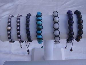 Bracelets Shamballa en pierres
