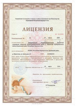 Лицензия ОУ