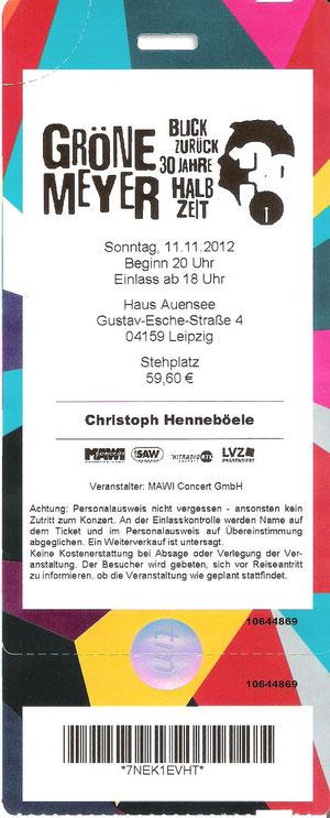 Nr.63 - 11.11.2012 - Herbert Grönemeyer - Haus Auensee, Leipzig